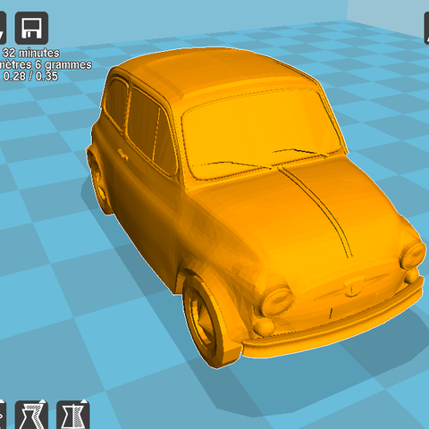 Download STL file Keychain Fiat 500 • 3D printable template, parizot