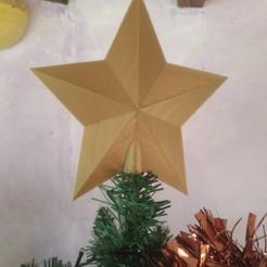 Imprimir en 3D gratis estrella del árbol de navidad, phil427