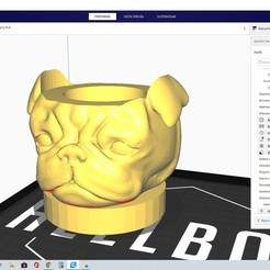 cura.jpg Download STL file pug carlino mate • 3D printable model, eugeniogordo