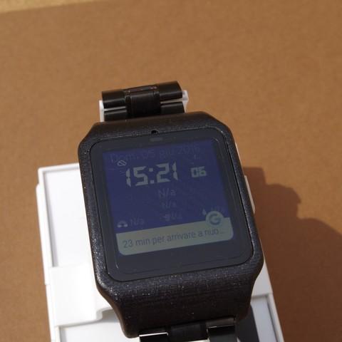 IMGP6247.JPG Download STL file sony smartwatch 3 holder • 3D printable design, MZTutto3D