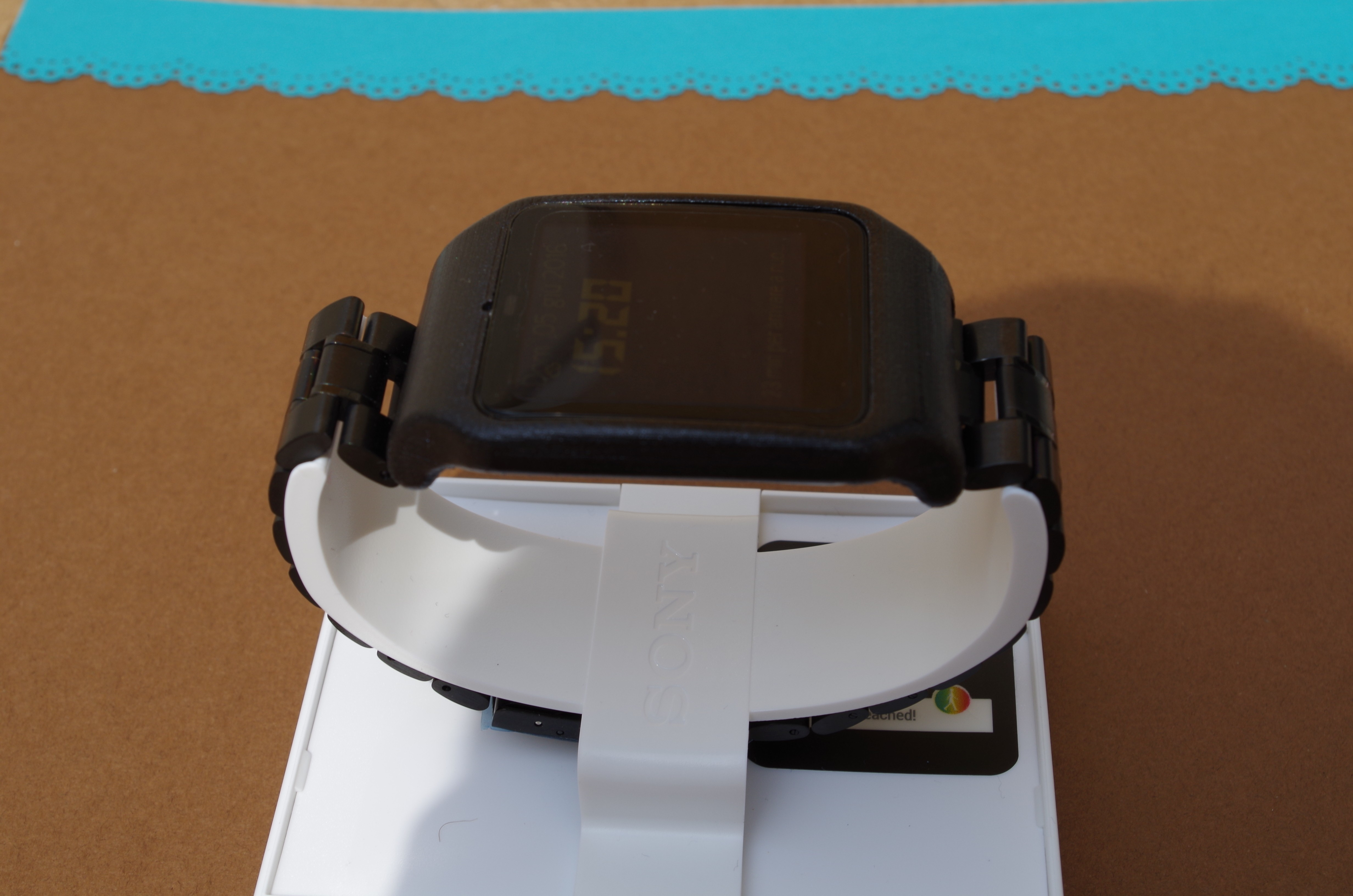 IMGP6246.JPG Download STL file sony smartwatch 3 holder • 3D printable design, MZTutto3D