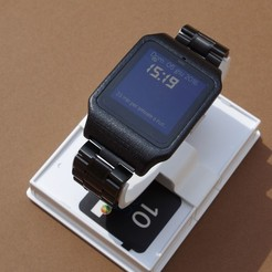 IMGP6245.JPG Download STL file sony smartwatch 3 holder • 3D printable design, MZTutto3D