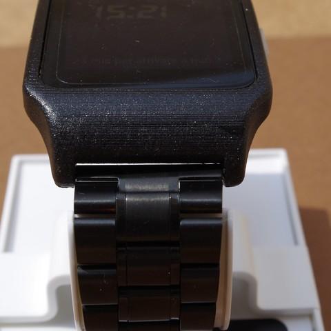 IMGP6248.JPG Download STL file sony smartwatch 3 holder • 3D printable design, MZTutto3D