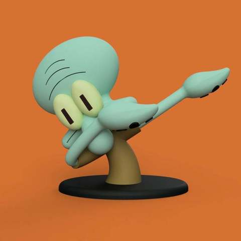 3c9d46ccf6a9e6811d0c346239ffc36b_display_large.jpg Download free STL file Dabbing Squidward • Object to 3D print, Philin_theBlank