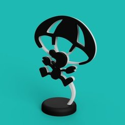 Free 3D print files Mr. Game & Watch - Parachute, Philin_theBlank