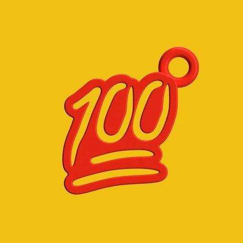 Download free 3D printer designs 100 Emoji Keychain ・ Cults