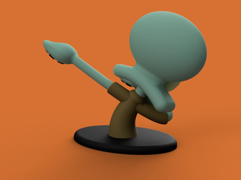 d3d1b61c93cb786b149e7a8082e27fdd_display_large.jpg Download free STL file Dabbing Squidward • Object to 3D print, Philin_theBlank