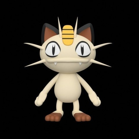 Download free STL file Meowth • 3D printable design, Philin_theBlank