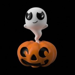 3f8406cb1bd163c6f1ee483f000fa038_preview_featured.jpg Download free STL file Pumpkin Ghost Figure • 3D printer template, Philin_theBlank