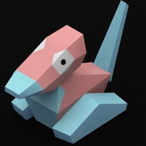 Download free STL file Porygon • 3D print template, Philin_theBlank