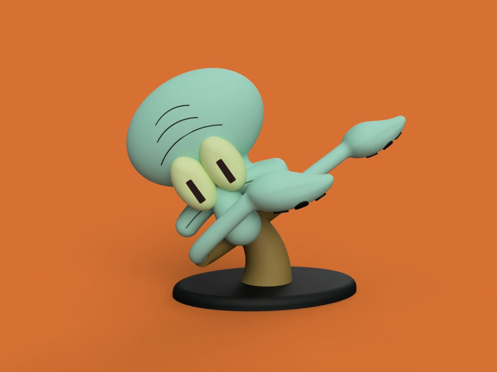 f49e7f612f826f8cfee7d36f7b9e5b64_display_large.jpg Download free STL file Dabbing Squidward • Object to 3D print, Philin_theBlank