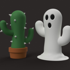 Download free 3D printing files Cactus Ghost, Philin_theBlank