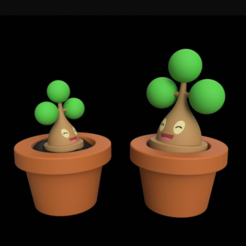 Download free STL Bonsly with Flower Pot, Philin_theBlank