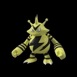 64dbeafc64240eee031ee214d85e83a6_preview_featured.jpg Download free STL file Electabuzz • Design to 3D print, Philin_theBlank