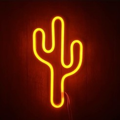 Cactus naranja.jpeg Download STL file Cactus neon led • 3D printer object, emanuelmartin1993