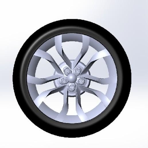 Download 3D printer templates Wheel twisted design, RinaBerezovski