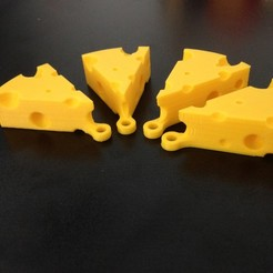 Download STL file Swiss Cheese Keychain • 3D printing model, Drex