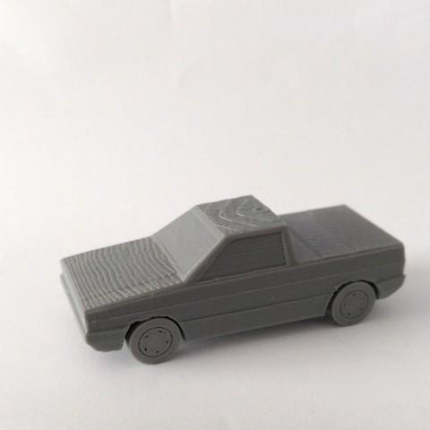 STL files Volkswagen Saveiro G1 Low poly, 2s3dprinting