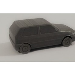 Free 3D printer files Fiat Uno Low Ploy, 2s3dprinting