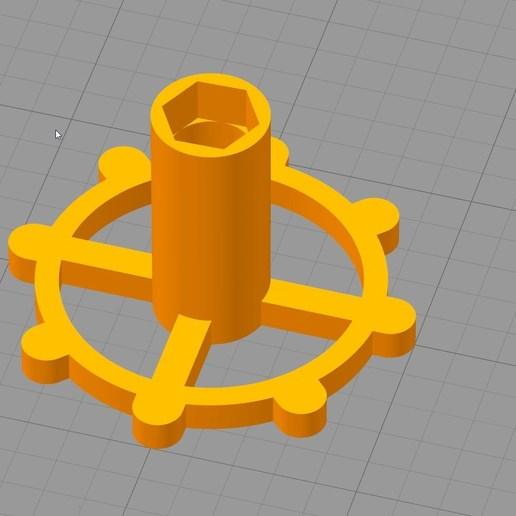Simplify3D_2018-05-07_03-53-32.jpg Download free STL file clé pour raccord pneumatique du corps de chauffe CR-10 . • 3D printable template, Cyborg