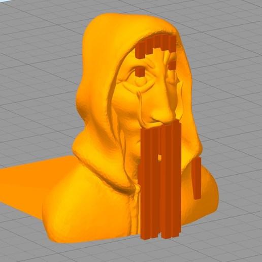"Simplify3D_2018-05-28_17-43-40.jpg Download free STL file bloque porte "" Casa de Papel "" • 3D printing object, Cyborg"