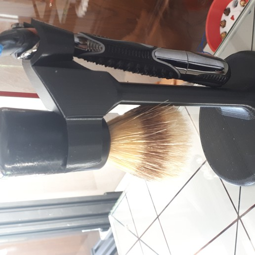 20190612_114255.jpg Download free STL file support rasoir et blaireau • 3D printable model, Cyborg