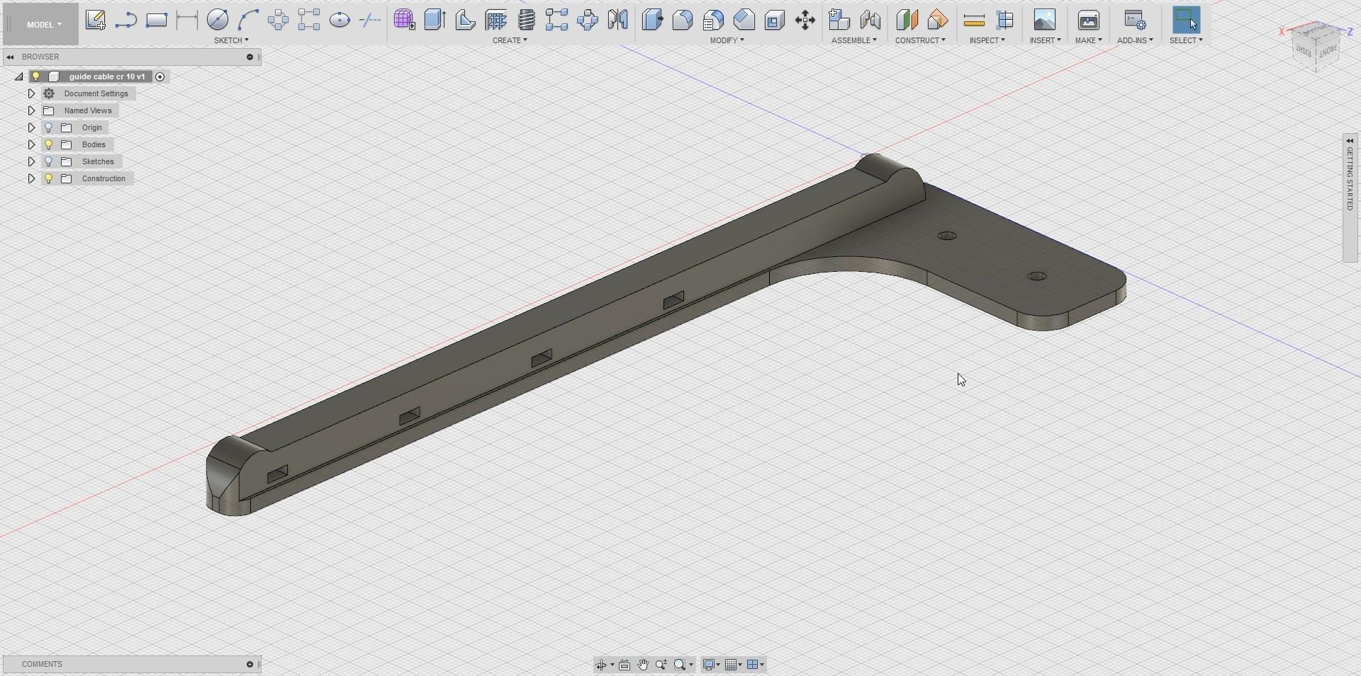 Fusion360_2018-04-17_18-13-57.jpg Télécharger fichier STL gratuit attache cables cr-10 • Design à imprimer en 3D, Cyborg