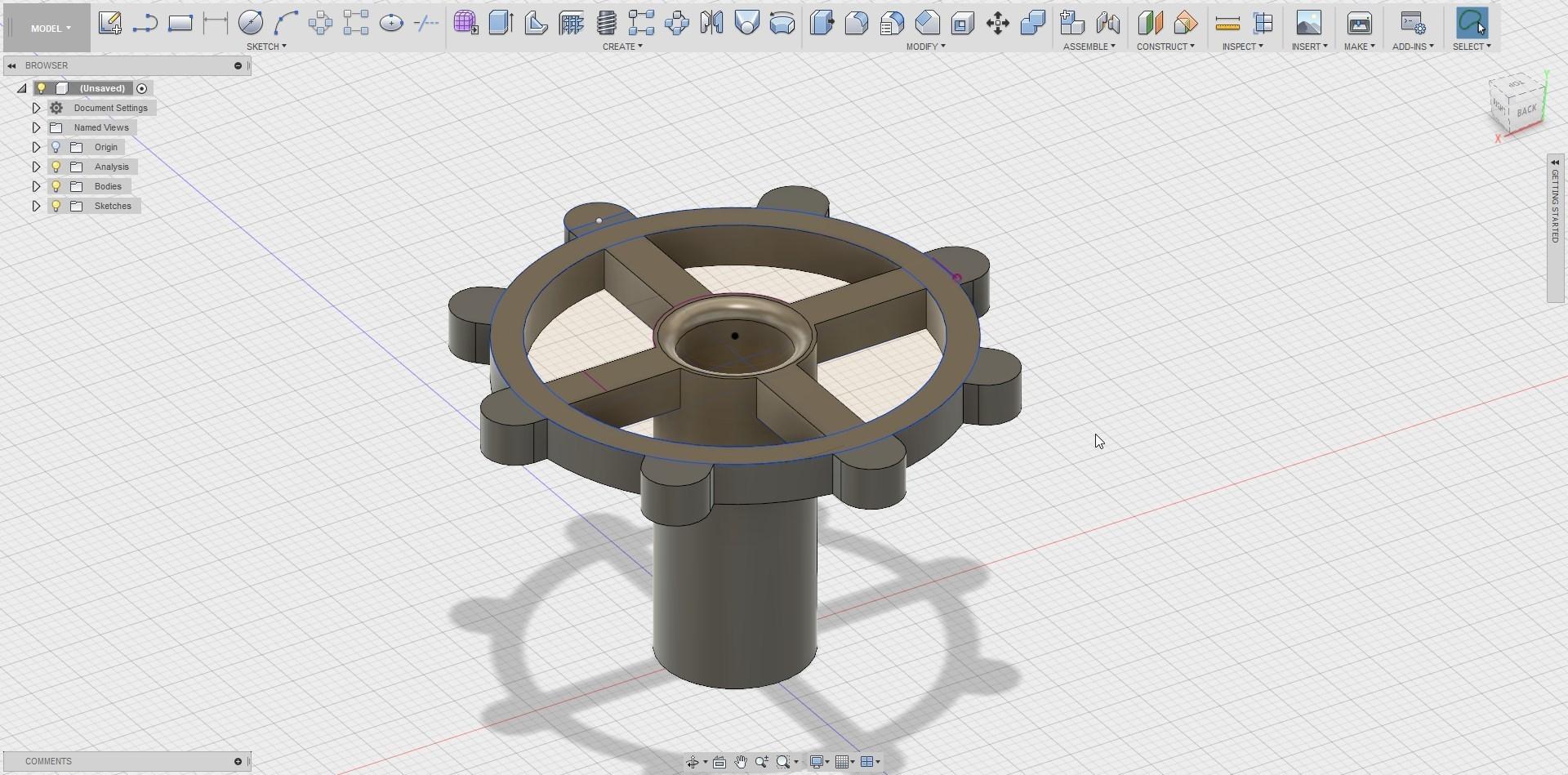 Fusion360_2018-05-07_03-54-13.jpg Download free STL file clé pour raccord pneumatique du corps de chauffe CR-10 . • 3D printable template, Cyborg