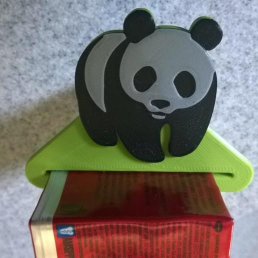 Download free STL Panda dentifrice, Cyborg
