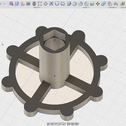 Fusion360_2018-05-07_03-54-46.jpg Download free STL file clé pour raccord pneumatique du corps de chauffe CR-10 . • 3D printable template, Cyborg