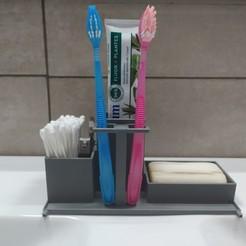 Descargar diseños 3D Juego de baño de cepillo de dientes de jabón, unix49000