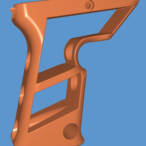 Download 3D printer designs Angeled Skeleton grip, Calle