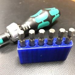 2018-12-27_18.20.04.jpg Download free STL file Magnetic quick change bit holder for hex bits and Wera ratcheting screwdriver • Design to 3D print, cmh