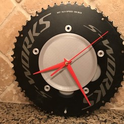 2019-02-15_20.25.06.jpg Download free STL file Chainring clock for 5x130mm aero time trial chainring • 3D print template, cmh