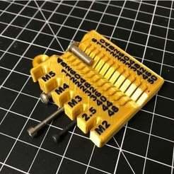 2020-02-09_17.48.33.jpg Download free STL file Metric screw measuring device - M2/2.5/3/4/5 4-50mm • 3D printable design, cmh