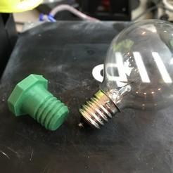 Télécharger fichier 3D gratuit Flan de remplissage pour douille d'ampoule à vis pour culot E17/C9, cmh