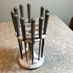 2019-03-19_06.07.27.jpg Download free STL file Holder for Harbor Freight needle file set • 3D printable template, cmh