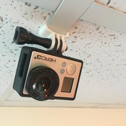 Download free 3D printing designs GoPro mount for drop ceiling, cmh