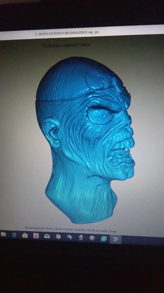 EDDIE FOTO2.jpg Download STL file EDDIE IRON MAIDEN • 3D printable template, GUSTAVO