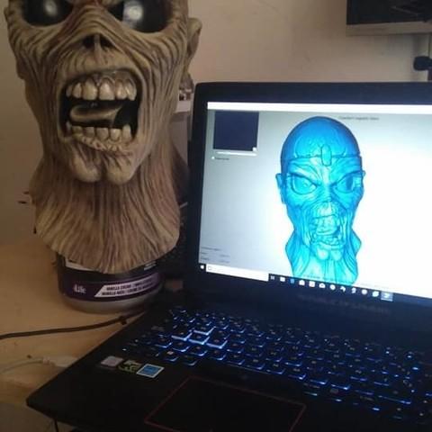 EDDIE FOTO1.jpg Download STL file EDDIE IRON MAIDEN • 3D printable template, GUSTAVO