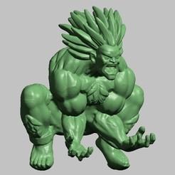 BLANKA.jpg Download STL file BLANKA STREEET FIGTH • Object to 3D print, GUSTAVO