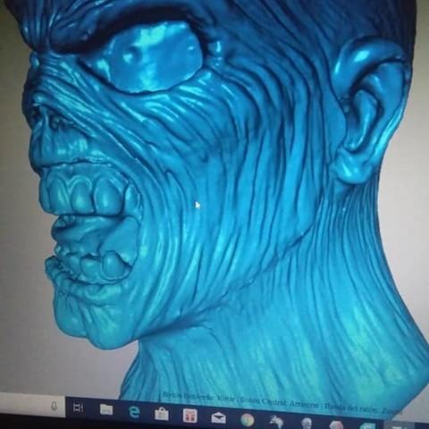 EDDIE FOTO4.jpg Download STL file EDDIE IRON MAIDEN • 3D printable template, GUSTAVO