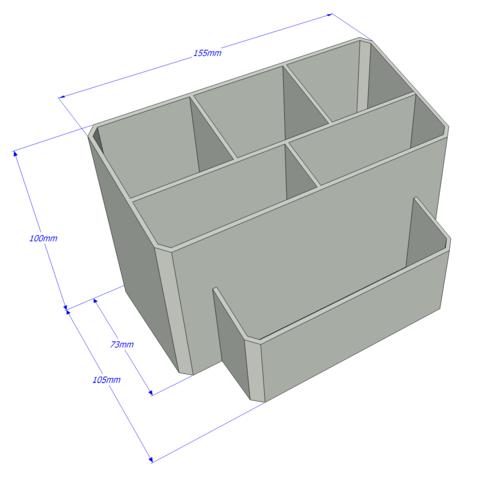 SketchUp.png Download free STL file Pencil case • 3D printing design, ReMont