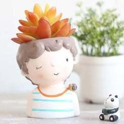 il_794xN.1917871048_sd94.jpg Download OBJ file Decoration planter Cute boy 1 of 4 for 3D print - STL model • Object to 3D print, FabioDiazCastro