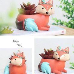 a7984465ce519a708a215b2dc4ca3ee6.jpg Download OBJ file Fox pot planter 3d model stl for 3d printing • 3D printer design, FabioDiazCastro