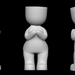 gorda 1.jpg Download OBJ file Fat woman planter stl for 3D printing • Object to 3D print, FabioDiazCastro