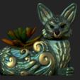 Imagen7.png Télécharger fichier OBJ Jardinière de renard des forêts nocturnes - STL pour l'impression 3D • Plan pour imprimante 3D, FabioDiazCastro
