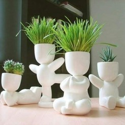 Descargar diseños 3D Strong boy fat potted plants and stl for 3D printing, FabioDiazCastro