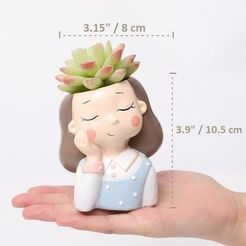 190e2649363bf018541b91cd46a0248d.jpg Download OBJ file Decoration Planter Pot Cute Girl 6 stl for 3D printing • 3D printer design, FabioDiazCastro