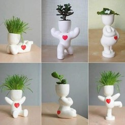 Descargar modelos 3D para imprimir Pregnant potted plants and stl for 3D printing, FabioDiazCastro